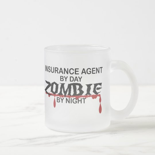 Insurance Agent Zombie Frosted Glass Coffee Mug