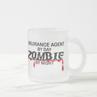 Insurance Agent Zombie Frosted Glass Mug