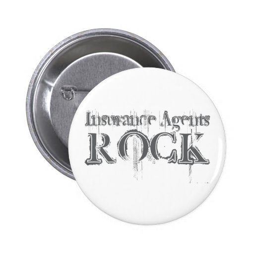 Insurance Agents Rock Pinback Button