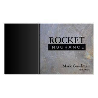 Insurance Broker Business Card - Rock Texture