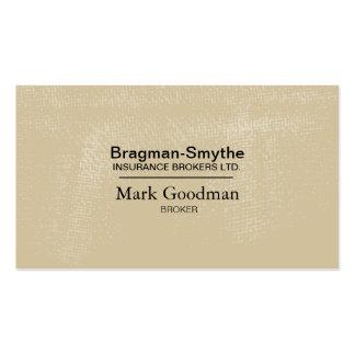 Insurance Broker Business Card - Simple Texture