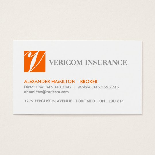 INSURANCE BROKER BUSINESS CARDS