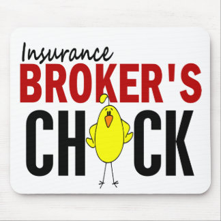 INSURANCE BROKER'S CHICK MOUSE PAD