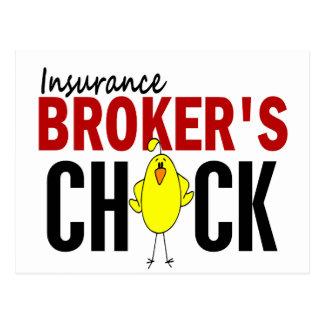 INSURANCE BROKER'S CHICK POSTCARDS