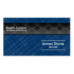 Insurance Business Card - Blue Black Professional