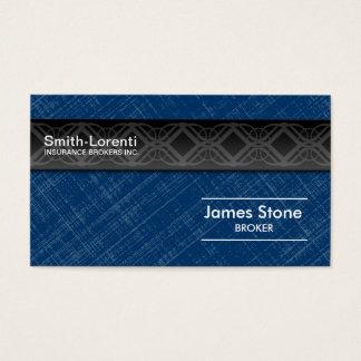 Insurance Business Card - Blue Black Professional