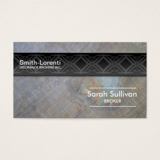 Insurance Business Card Rock Texture Professional