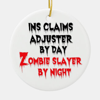 Insurance Claims Adjuster Zombie Slayer Christmas Ornament