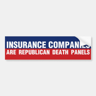 Insurance Companies Bumper Sticker