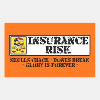 Insurance Risk - Skulls Crack - Bones Break Stickers