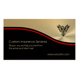 Insurance Sales, Phoenix Rising Logo, red swoosh Pack Of Standard Business Cards