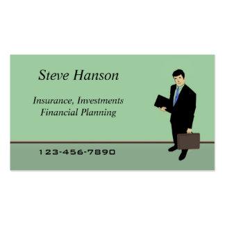 Insurance Salesman Business Card Template