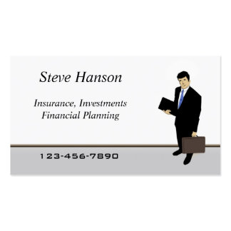 Insurance Salesman Pack Of Standard Business Cards