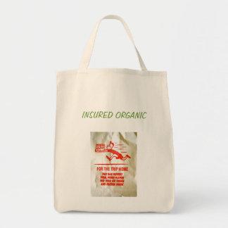 """Insured Organic"" Organic Tote Grocery Tote Bag"