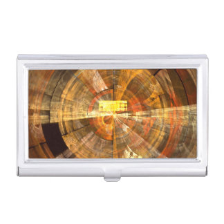Integrity Abstract Art Business Card Holder