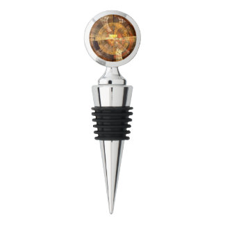 Integrity Abstract Art Chrome Wine Stopper