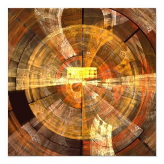 Integrity Abstract Art 5.25x5.25 Square Paper Invitation Card