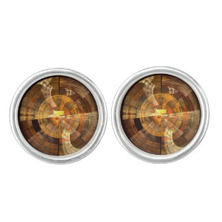 Integrity Abstract Art Silver Plated Cuff Links