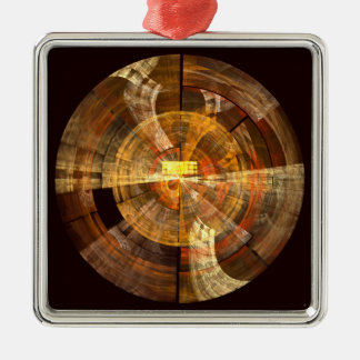 Integrity Abstract Art Square Christmas Ornament