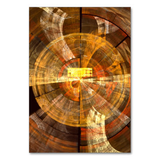 Integrity Abstract Art Table Card