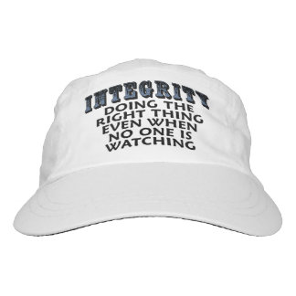 Integrity: Doing the right thing even when... Hat