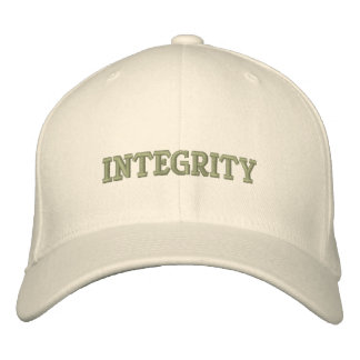 INTEGRITY EMBROIDERED BASEBALL CAP