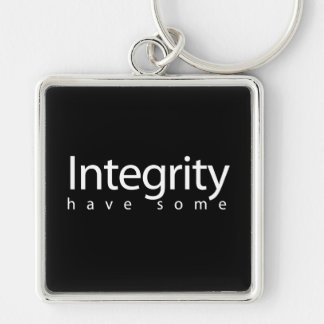 Integrity Silver-Colored Square Key Ring