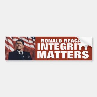 Integrity Matters: Ronald Reagan Car Bumper Sticker