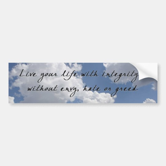 Integrity on Clouds Bumper Sticker
