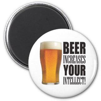 Intellect Beer Fridge Magnet