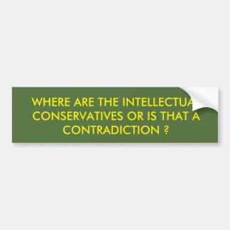 Intellectual Conservatives Car Bumper Sticker
