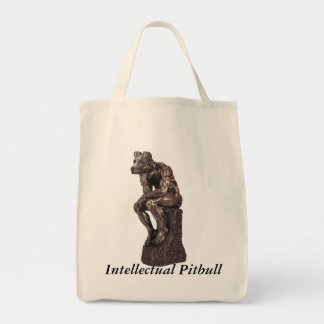 Intellectual Pitbull Tote Bag