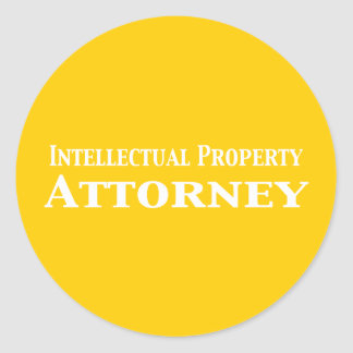 Intellectual Property Attorney Gifts Round Sticker