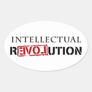 Intellectual rEVOLution Oval Sticker