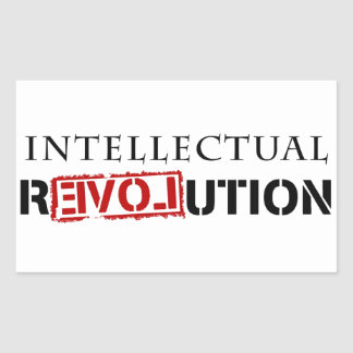 Intellectual rEVOLution Rectangular Sticker