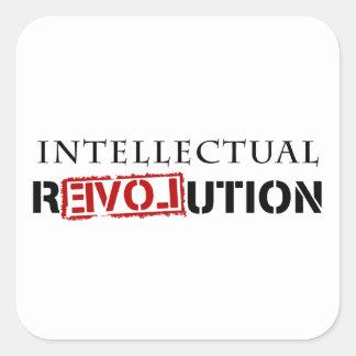 Intellectual rEVOLution Square Stickers