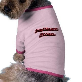 Intelligence Officer Classic Job Design Ringer Dog Shirt