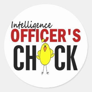 INTELLIGENCE OFFICER'S CHICK STICKER