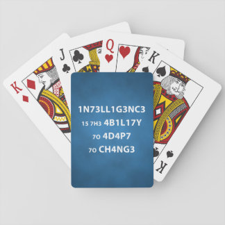 Intelligence Quote Playing Cards