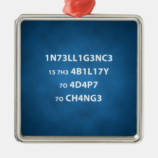 Intelligence Quote Premium Square Ornament
