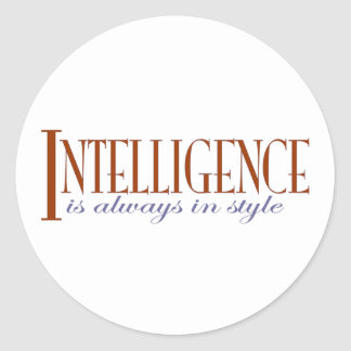 Intelligence Round Sticker