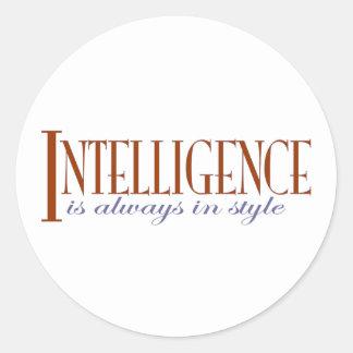 Intelligence Round Stickers