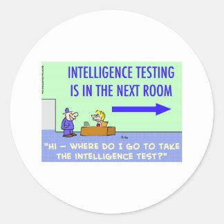 intelligence testing next room round sticker