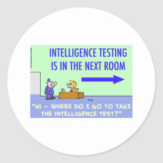 intelligence testing next room stickers