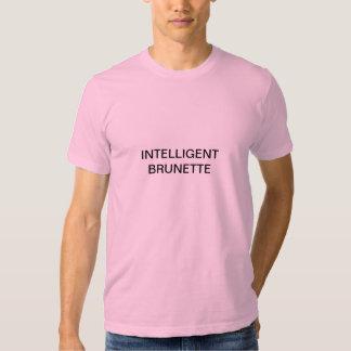 intelligent brunette tees