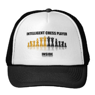 Intelligent Chess Player Inside (Reflective Chess) Mesh Hats
