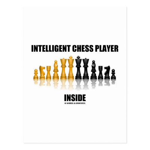 Intelligent Chess Player Inside (Reflective Chess) Post Card