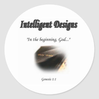 Intelligent Designs Logo Round Sticker