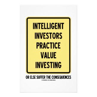 Intelligent Investors Practice Value Investing Customised Stationery