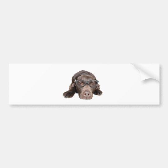 Intelligent Labrador Bumper Sticker
